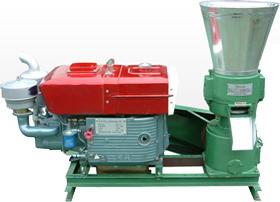 Pellet-press-with-diesel-motor
