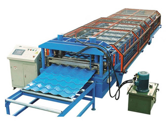 Glazed tile roll forming lines