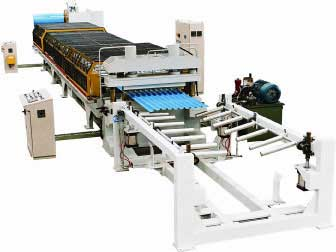 Roof wall panel roll form machines
