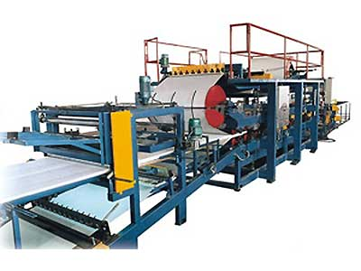 Sandwich panel rollforming machine