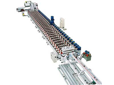 Steel structure floor roll forming line